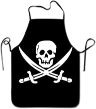 AshasdS AfagaS Danger Pirate Skull Design Chef Apron for Women Men Barber Cooking Crafting