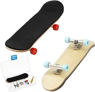HEHALI 2 PCS Wooden Professional Mini Fingerboards Finger Skateboard
