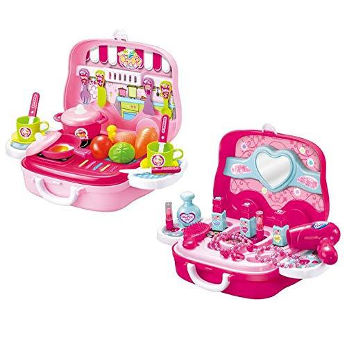 こちらの商品は【 わくわくキッチンセット 】のみです。 おしゃれでかわいい、本格ごっこ遊びセット 子供用玩具 なりきりごっこあそびセット(B) 〈簡易梱包
