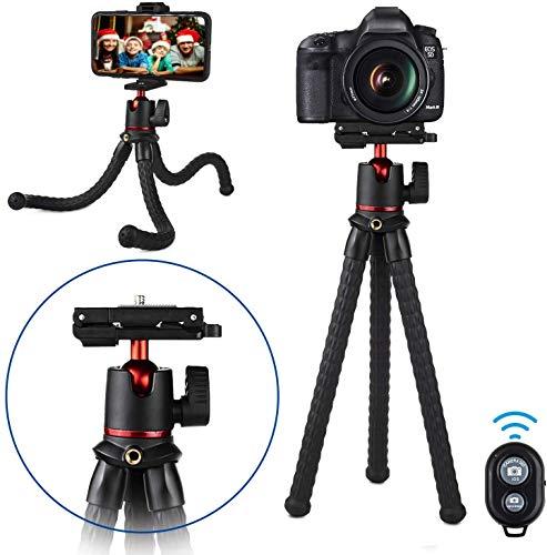 Handy Stativ, Flexibel Selfie Stativ für Smartphone, Bluetooth Tripod mit Fernauslöser, Tragbar Kamera Stativ Dreibein, Stativ für iPhone 13 Pro Max/13, Samsung/GoPro/Kamera Innerhalb Von 2 kg