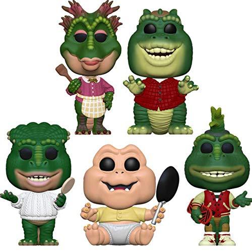 Funko Pop! Televisão: Dinossauros Série TV bonecos colecionáveis de vinil, 9,45 cm (conjunto com 5)
