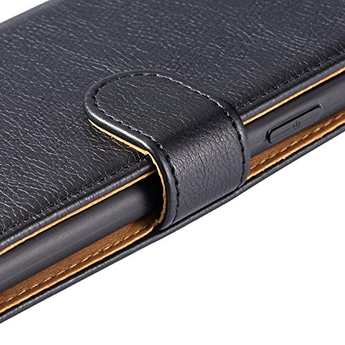 """Case Collection Hochwertige Leder hülle für LG K51 Hülle (6,5\"""") mit Kreditkarten, Geldfächern und Standfunktion für LG K51 Hülle"""