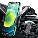 [2021 Upgrade]VANMASS Universal Car Phone Mount Fingerprint Clamp, Hands-Free Phone Holder for Car Dash Windshield Air Vent, Strong Suction, Compatible with iPhone 12 11 Xs Max XR SE 8 Samsung S20 S10