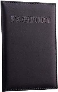 Porta Pasaporte de Piel para Viaje Color Negro. Funda para Pasaporte Hombre y Mujer con Medidas 14.2x9.8 cms