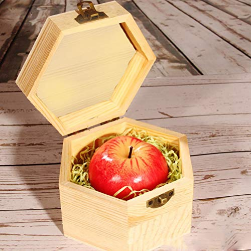 VUN Christmas Red Apple Shaped Candle and Box Set Creative Romantic Wedding Birthday Xmas Gift Party Home Decorations Artificial Apple Candle (Hexagonal Box)