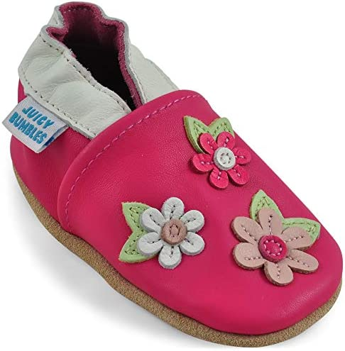 Baby Shoes Soft Sole Leather Baby Girl Shoes Pink Blossoms 12 18 Months product image