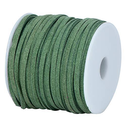DonDon Cinta de terciopelo de 3 mm - DIY Rollo de 30 metros - verde