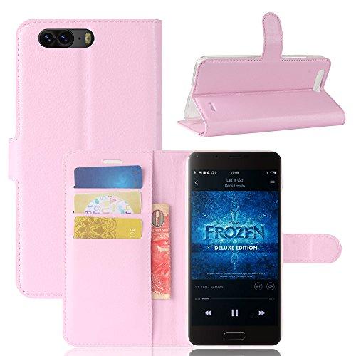 Litao-Case CN Hülle für Blackview P6 hülle Flip Leder + TPU Silikon Fixierh Schutzhülle Case 8