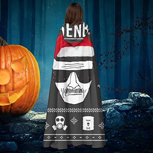 NULLYTG Breaking Bad Heisenberg Navidad Unisex Halloween Bruja Caballero con Capucha Bata de Vampiro Capa de Disfraz de Cosplay