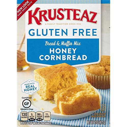 Krusteaz Gluten Free Honey Cornbread Mix, 15-Ounce Box (PACK OF 2)