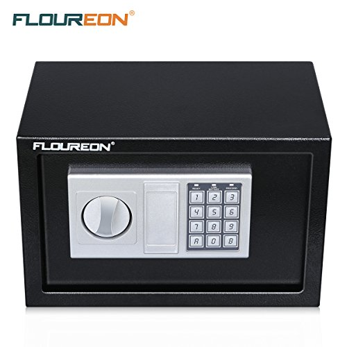 Digital Security Safe Lock Box, FLOUREON Solid Steel Security Safe Box Keypad Lock Electronic for Home/Office /Hotel Business/Jewelry Gun Cash Storage-0.8-Cubic Feet