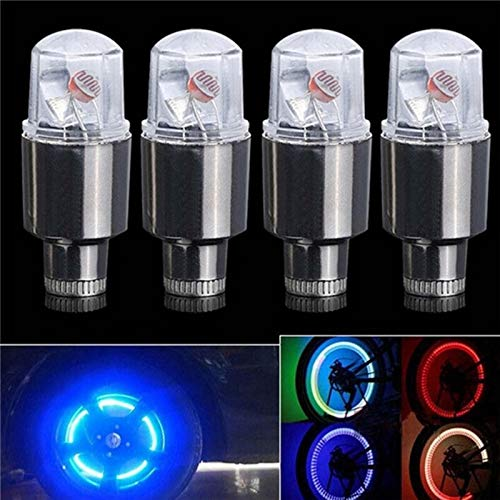 HUYANJUN HYJ-DENGMAO, 2Pcs LED Rueda de Bicicleta de Coche Neumático Válvula de neumático Tapa Antipolvo Habló Luces de Flash Vástagos y Tapas de válvula de Coche (Color : Verde)