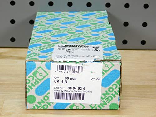 Phoenix Contact UK 6 N 3004524 Durchgangsklemme Polzahl: 2 0.2 mm² 6 mm² Grau 1 St.