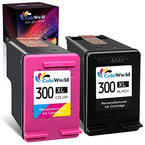 ColoWorld Remanufacturado 300 XL Negro y Tricolor Cartuchos de tinta para HP 300 300XL para hp Deskjet D1660 D2560 D2660 F4240 F4280 F4280 F4580 Envy 110 120 Photosmart C4680 C4780 D110a Impresora