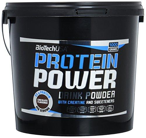 Protein power Schokolade 1000g - hydrolysiertes Soja-Isolat, Calciumcaseinat und Molkenkonzentrat - BiotechUSA
