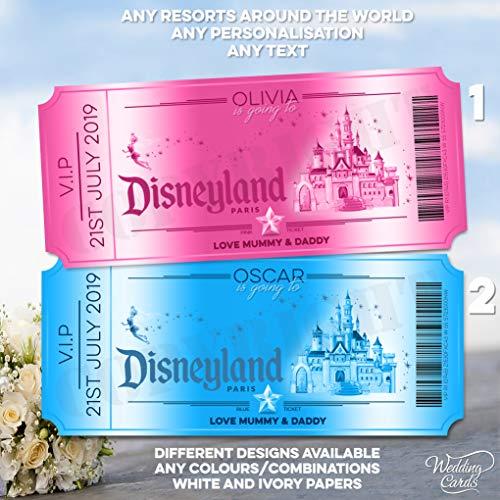 Hochzeitskarten, personalisierbar, Walt Disney California Adventure World Florida Orlando Disneyland Paris Überraschungskarte