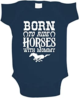 baby born horse riding