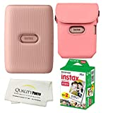 Fujifilm Instax Mini Link Smartphone Printer Bundle with Case and 20 Films (Dusty Pink)