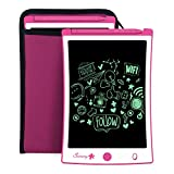 Sunany 8.5 inch LCD Writing Tablet with Protective Sleeve,Gifts Toys for 3-6 Years Old Boys Girls,Drawing Board Doodle Board Reusable Doodle Pad Drawing Pad Kids' Electronic Education Systems(Pink)