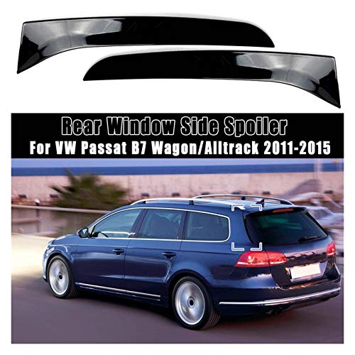 FENGFENG Sun Can Ventana Trasera Spoiler Spoiler Canard Canards Splitter Fit para VW Passat B7 Wagon/AllTrack 2011 2012 2013 2014 2015 2015