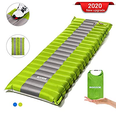 SGODDE Camping Sleeping Pad, Extra Thickness Camping pad, Upgraded Spliceable Inflatable Sleeping Mat, Compact Air Mat, Waterproof Mattress for Sleeping Backpacking Hiking Traveling