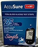 AccuSure Simple Blood Glucose Test Strip - 25 Strips