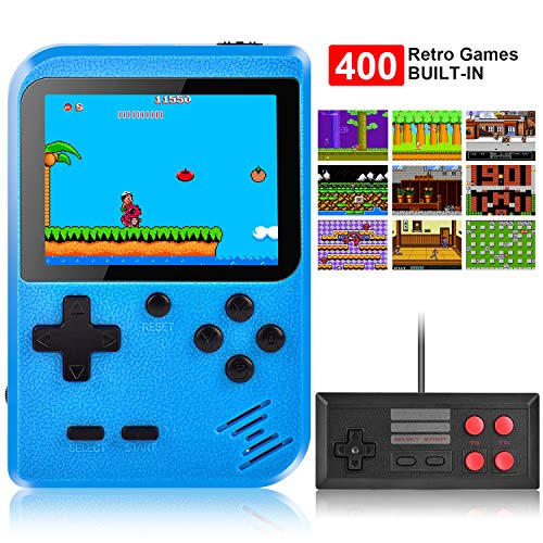 Handheld Game Console, Kiztoys Retro Video Games Console for kids with 400 Classic Games, Supporting...