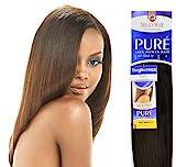 MilkyWay Human Hair Weave Pure Yaki [14'] #1b