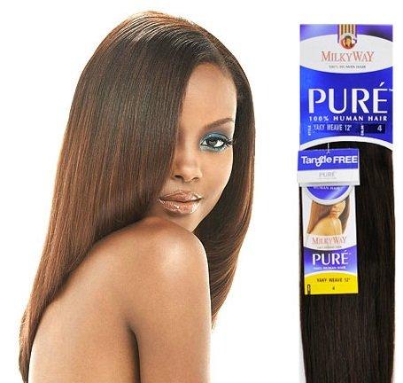 "MilkyWay Human Hair Weave Pure Yaki [10""] #4"