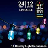 Mr. Christmas Holiday Cafe' Lights, 14 Holiday Light Sequences, Indoor/Outdoor, Shatter Proof LED Bulbs