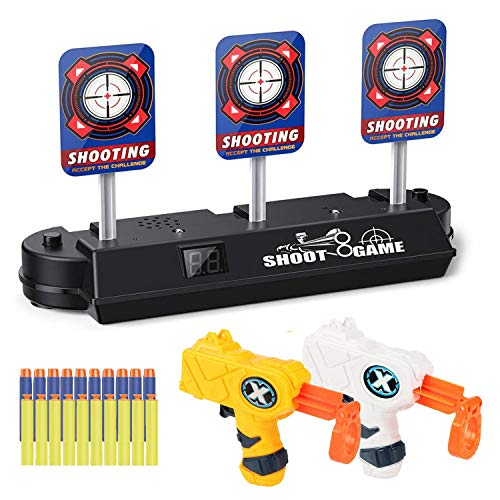 JRD&BS WINL Shooting Games–Electric Scoring Auto Reset Shooting Digital Target for Guns Blaster,Target Practice Toys for Boys and Girls with Foam Dart Gun,Best Gifts for Kids,Birthday Gifts for Kids