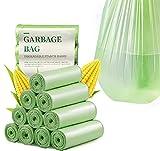 Bolsas de basura compostables de 20 litros, 100 % biodegradables y compostables, bolsas de basura de almidón de maíz, para cocina, comedor, jardín, oficina, mascotas (100 unidades)