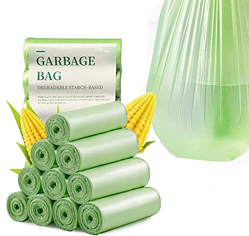 DRWhem Sacchetti per la spazzatura compostabili, 20 l, 100 pezzi, 100% biodegradabili e sacchetti...