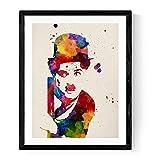 Nacnic Rahmen zu Rahmen Charlie Chaplin Dekorative Blätter