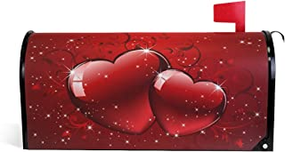 WOOR Valentines Glitters Love Hearts Magnetic Mailbox Cover Standard Size-18