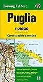 Apulien Strassenkarte, Karte, Landkarte, TCI (Touring Club Italiano) Blatt 11, Puglia / Apulien, Bari, Lecce, Gargano, Foggia