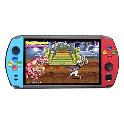 CMOM Consola de videojuegos portátil para niños, retro, 2000 juegos, HD, pantalla de 7 pulgadas, capacidad 8 GB/16 GB, TF, videoconsola para niños, regalo (16 G)