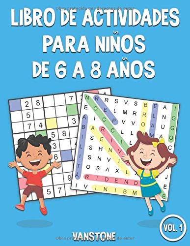 Libro de actividades para niños de 6 a 8 años: 100 Sopa de letras y 100 sudokus con soluciones - Mucha diversión para los niños (Vol.1)