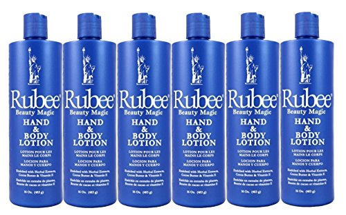 Rubee Hand & Body Lotion 16 Ounce (473ml) (6 Pack)