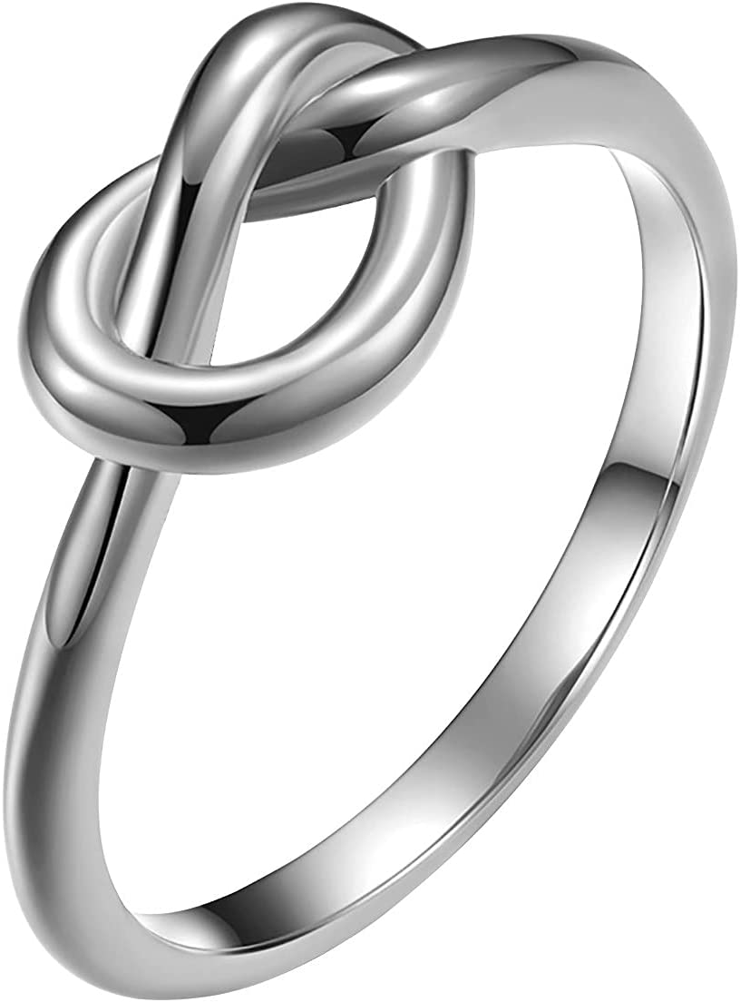 Novania Knot Large special price !! Max 54% OFF Promise Ring for Wedding Titanium Steel Women Her