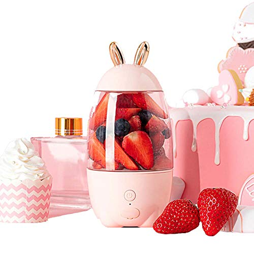 WXYLYF Tragbare Entsafter Haushaltssaftmaschine Cup Obst USB-Lade Mini Smoothie Blender Outgoing Entsafter Extractor Kaninchen-Form