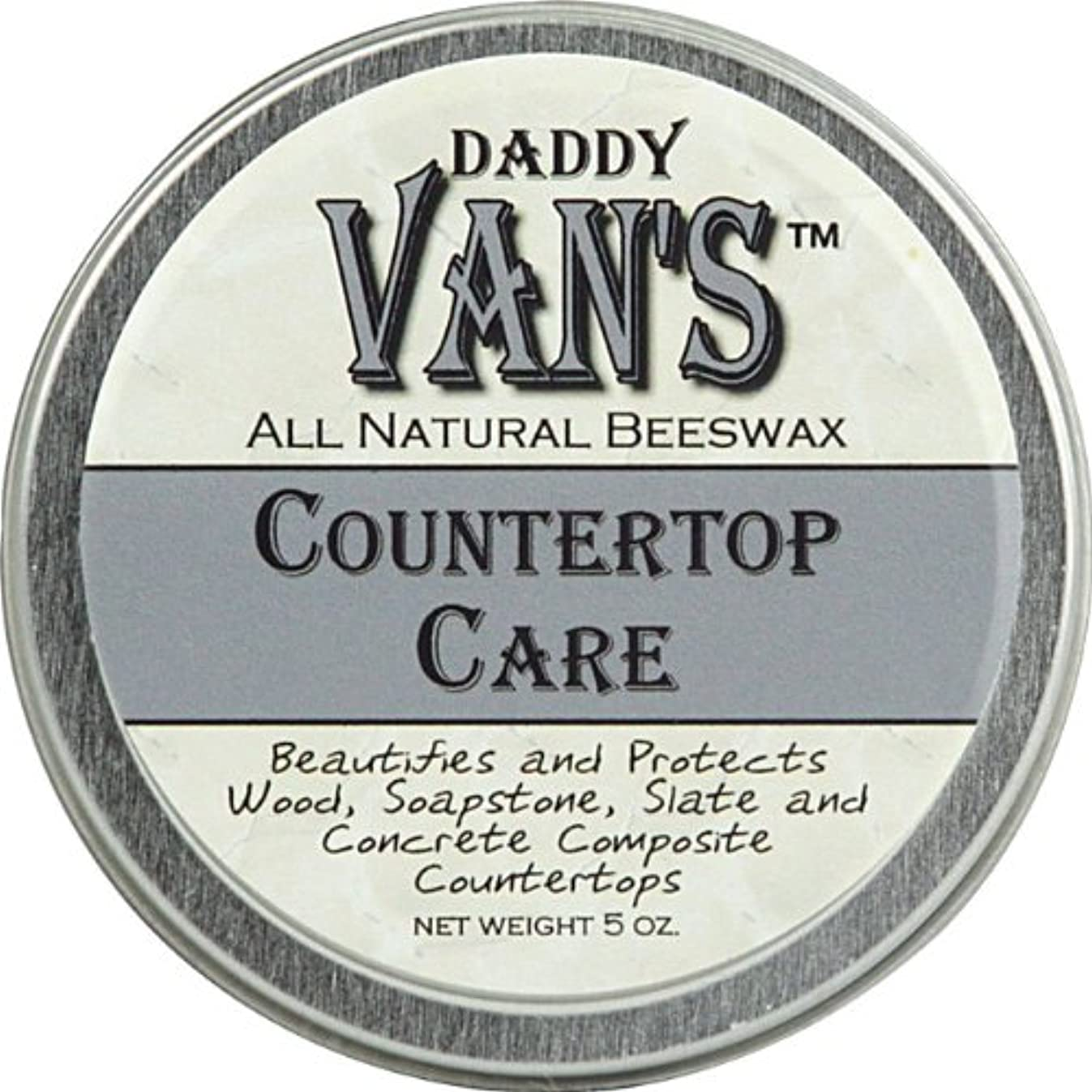 Daddy Van's? All Natural Beeswax Countertop Care for Soapstone, Slate, Concrete Composite and Butcher Block Counter Tops - Food Safe, Chemical-Free and Non-Toxic - A Little Goes a Long Way with this 5 Ounce Tin