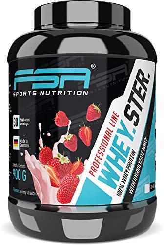 Premium Whey Protein Eiweißpulver zum Muskelaufbau und Abnehmen, Erdbeere, 30 Portionen - FSA Nutrition