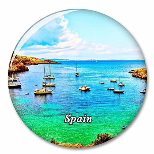 España Cala Bassa Ibiza Imán de Nevera, imánes Decorativo, abridor de Botellas, Ciudad turística, Viaje, colección de Recuerdos, Regalo, Pegatina Fuerte para Nevera