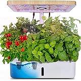CRZJ Sistema de Cultivo Inteligente de macetas, Kit de Inicio de jardín de Hierbas para Interiores con luz de Crecimiento LED, Maceta de jardín Inteligente para Cocina casera