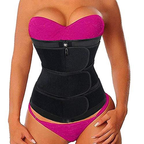 ALINBAIST Waist Trainer Trimmer Cincher Womens Long Torso Workout Sweat Bands Sauna Belt lose Belly Fat,Small Black