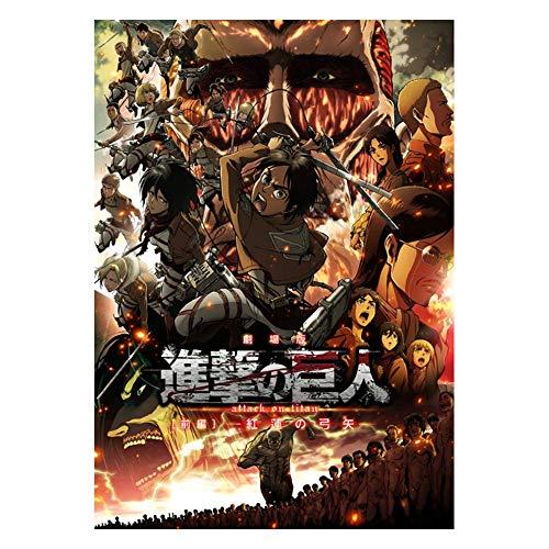 Chutoral Poster du manga Attaque des Titans - Décoration murale - Décoration d'intérieur