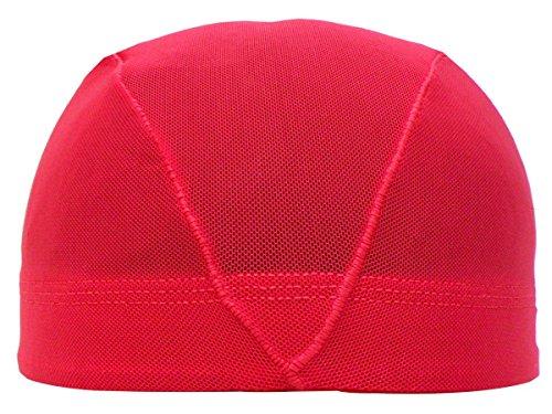 アスナロ(帽子・キャップ) 水泳帽 子供 メッシュ キッズ ジュニア 無地LL(58-63cm) 赤