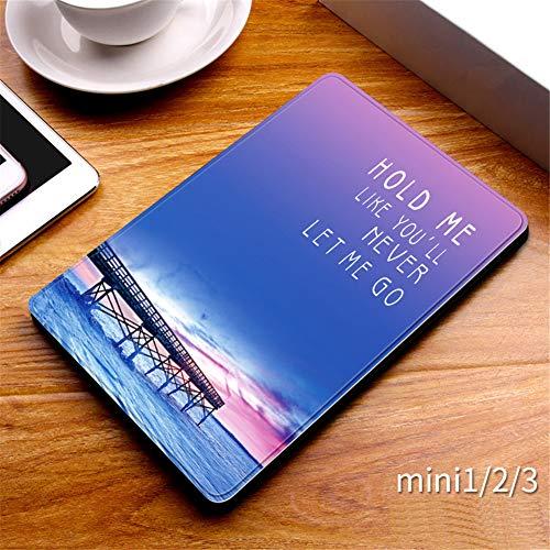 1/2/3 De iPad Mini - Elegante Delgado Shell Ligera Cubierta del Soporte, En Folio del Caso para iPad Mini 1/2/3 (Despertador Automático/Reposo),L