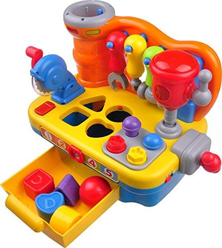 Think Gizmos Giocattoli di attività per i più Piccoli - Giocattoli educativi interattivi per Bambini Piccoli (Tavolo per Costruttori Interattivo)